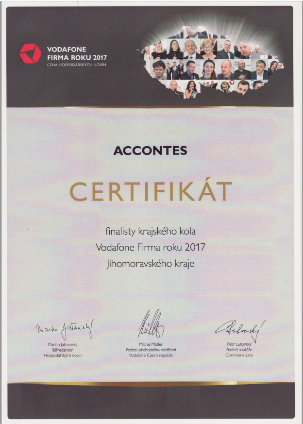 Finalisté certifkáty 2017